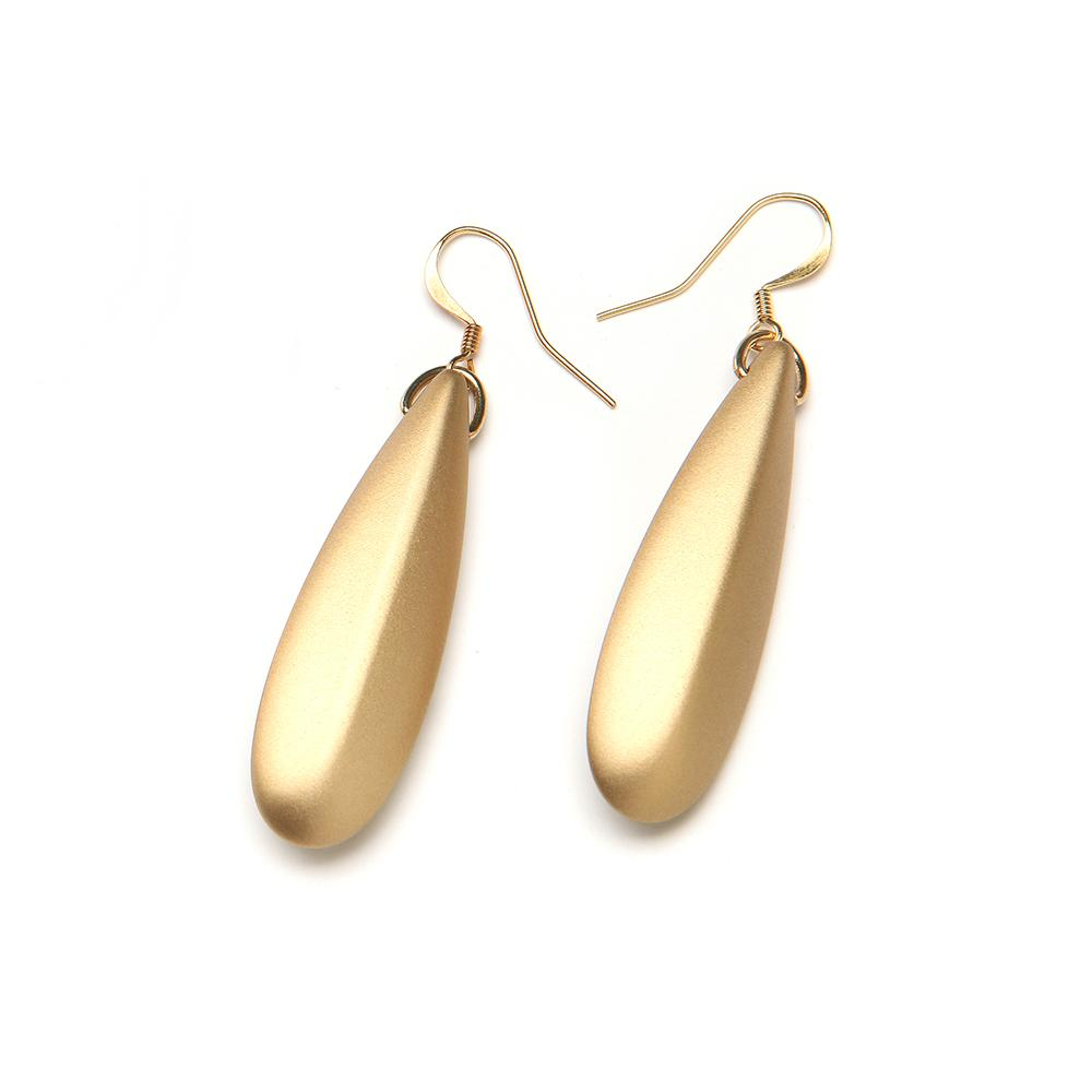 Silvia Barile Resin Earring Gold