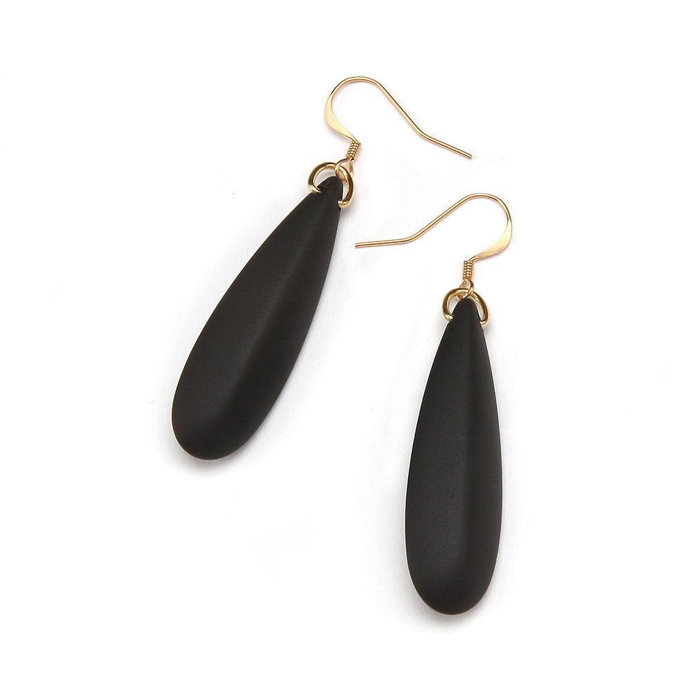Silvia Resin Earring Matte Black