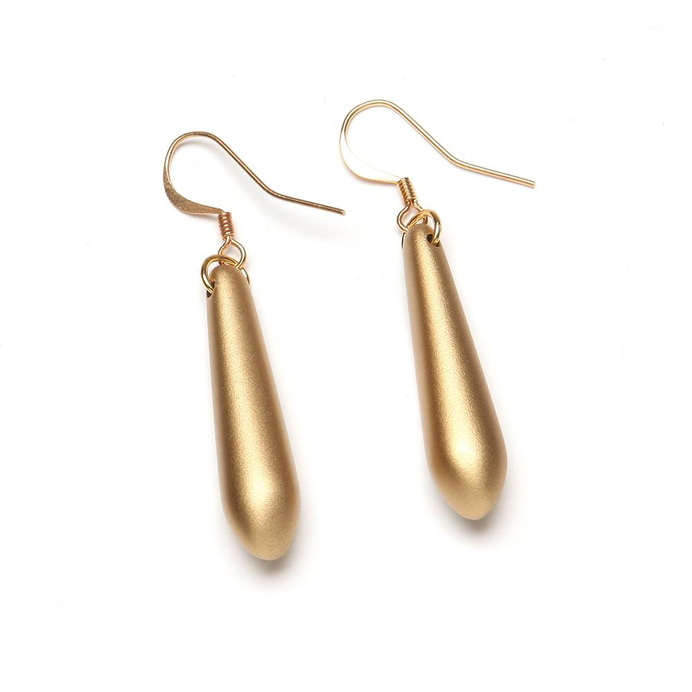 Donna Barile Resin Earring Gold
