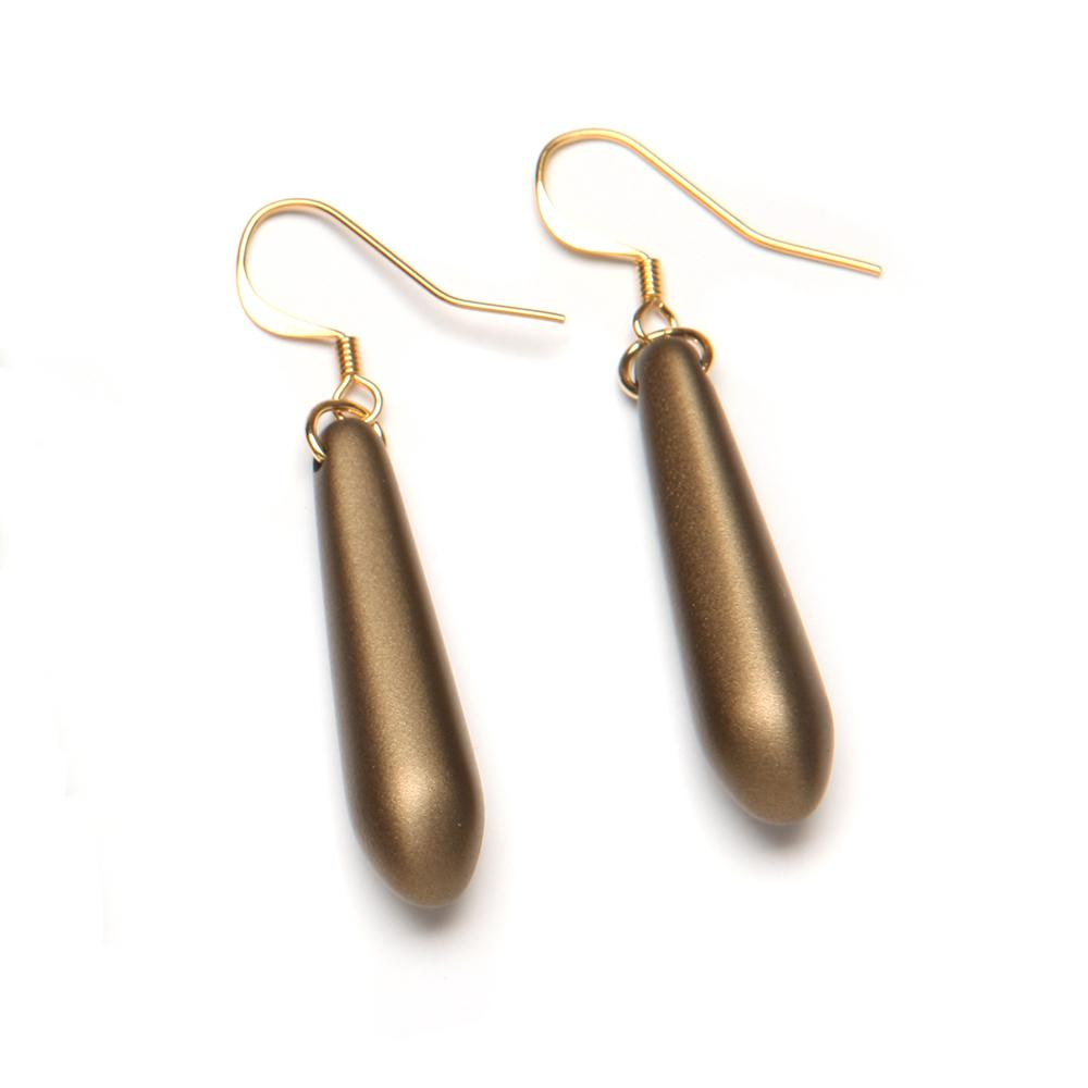 Donna Barile Resin Earring Brass