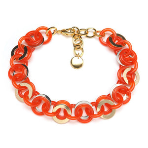 Mini Sea Chain Resin Necklace Mandarin