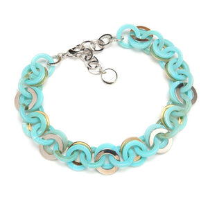Mini Sea Chain Resin Necklace Turquoise