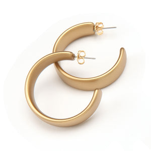 Camille Barile Resin Earring Gold
