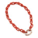 Fiji Wood Necklace Mandarin