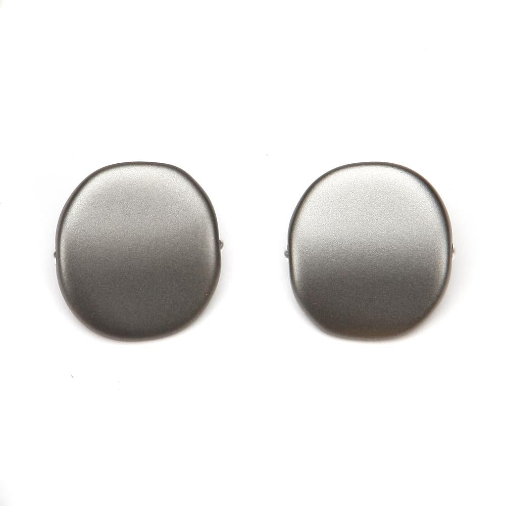 Alchemy Riverstone Resin Clip Earring Pewter