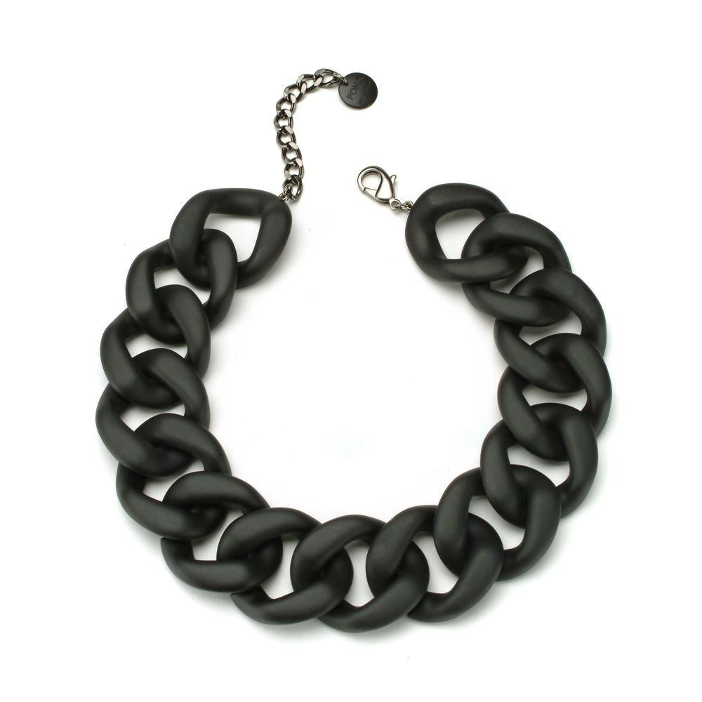 Ana Resin Necklace Matte Black