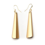 Barile Drop Resin Earring - Large Gold