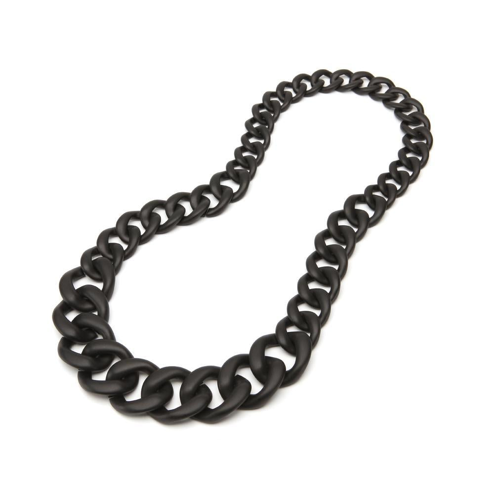 Francesca Resin Necklace Matte Black
