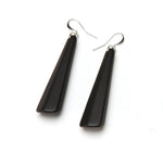 Matte Drop Resin Earring - Large Matte Black