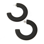 Not an Infinity Hoop Resin Earring Black