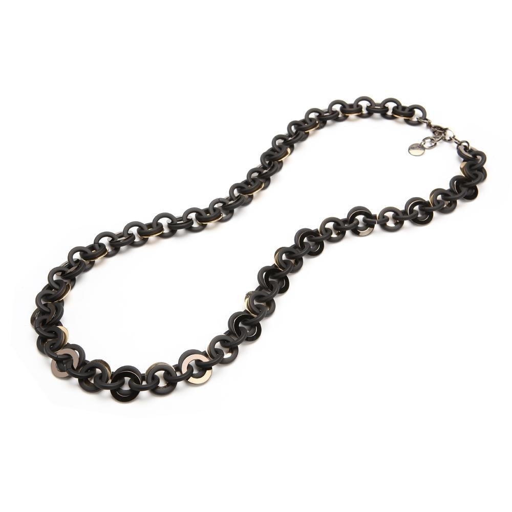 Sea Chain Resin Necklace Matte Black
