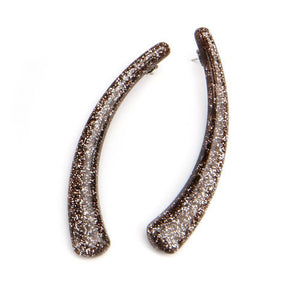 Sparkle Horn Resin Earring Bronze