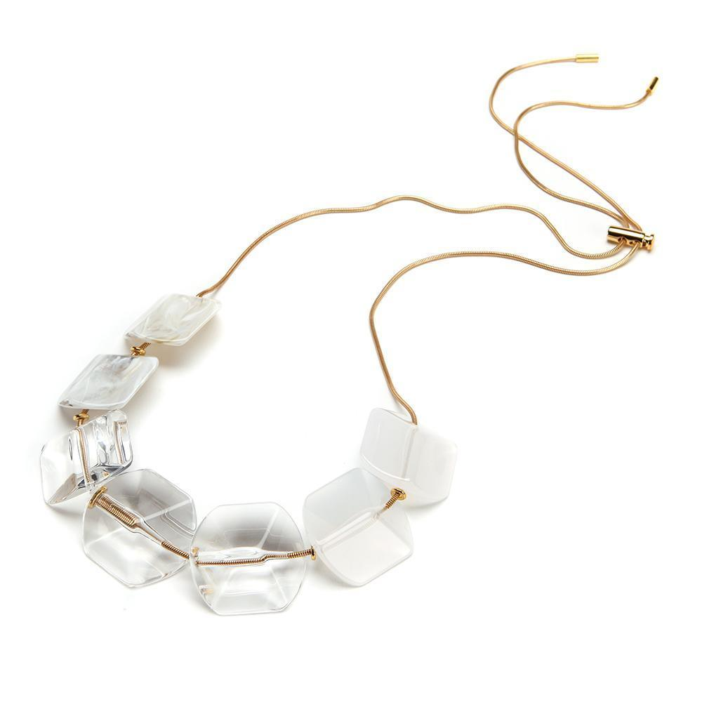 Summer Slide Resin Necklace Bianco