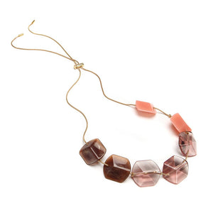 Summer Slide Resin Necklace Rosa