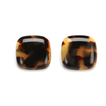 Lara Resin Clip Earring Tshell
