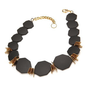 Twilight Resin Necklace Matte Black