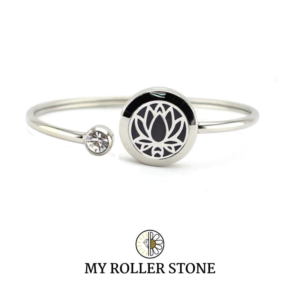 "My roller stone Lotus Bracelet diffuseur ""Deluxe"""