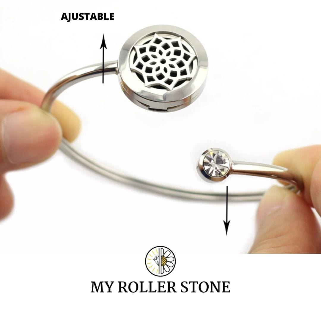 "My roller stone Bracelet diffuseur ""Deluxe"""