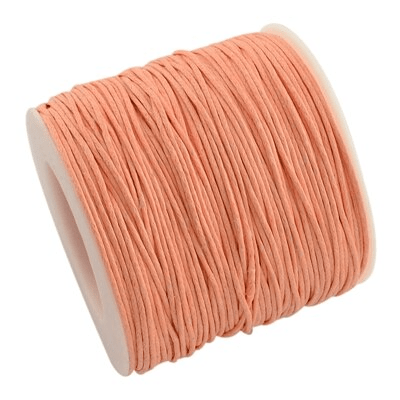 Fil macramé ciré orange