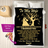I Love You Forever & Always - Personalized Couple Blanket