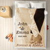 Holding Hands Romantic Personalized Blanket