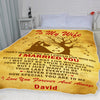 Personalized Gift For Your Wife - Name Printed Blanket