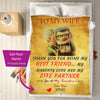To My Wife - Personalized Couple Blanket