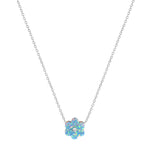Blue Opal Daisy Necklace