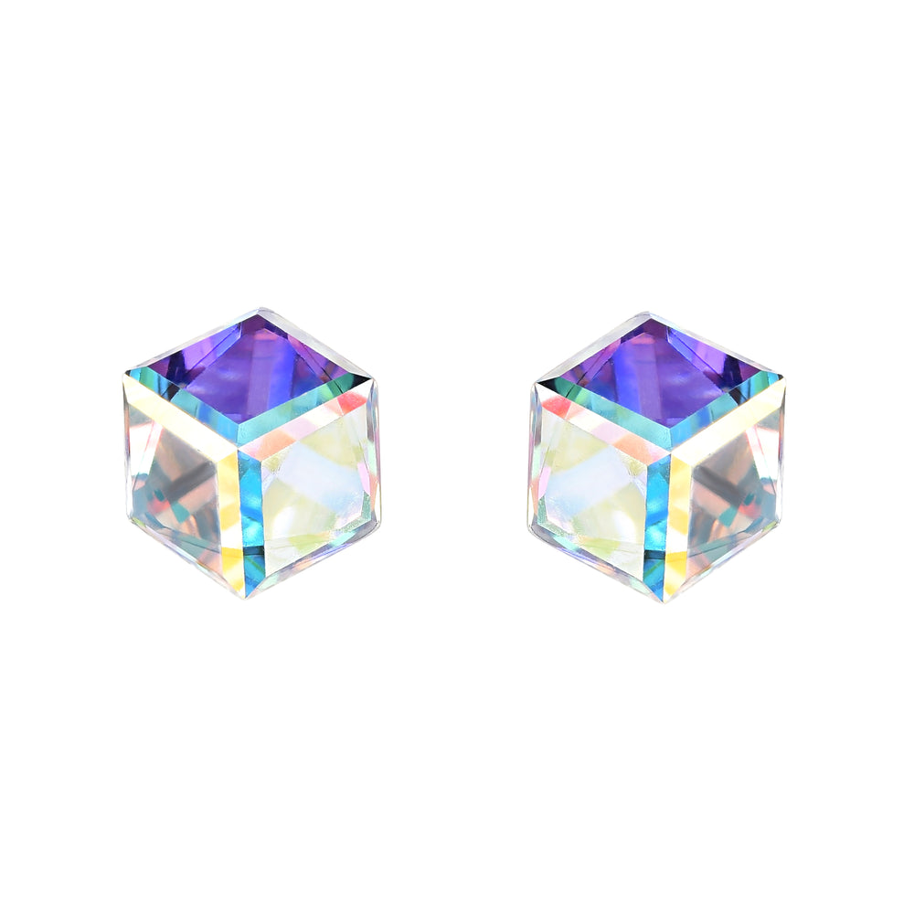 Iridescent Cube Earrings