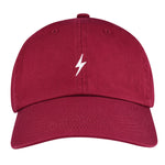 Burgundy Lightning Bolt Dad Hat