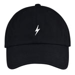Black Lightning Bolt Dad Hat
