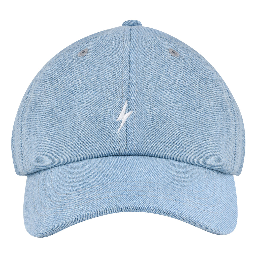 Denim Lightning Bolt Dad Hat