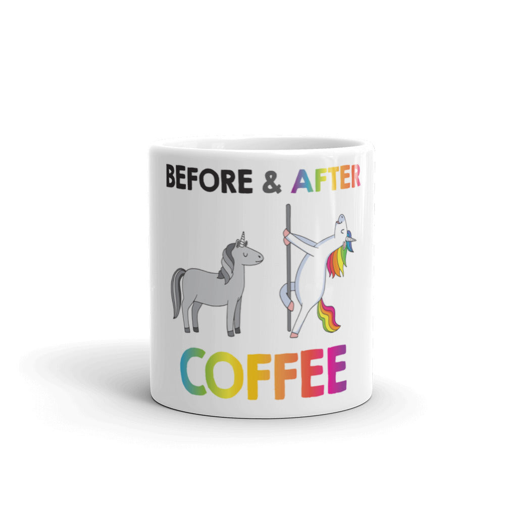 Before'nAfter coffee Unicorn