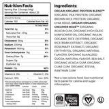Organic Protein™ Plant Based Protein Powder (20 Servings, 2.03lb)