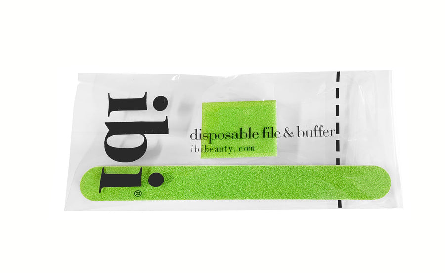 Disposable green small file & mini buffer set