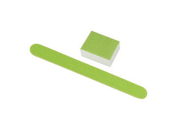 Disposable Green Small File & Mini Buffer Set (No Bags)