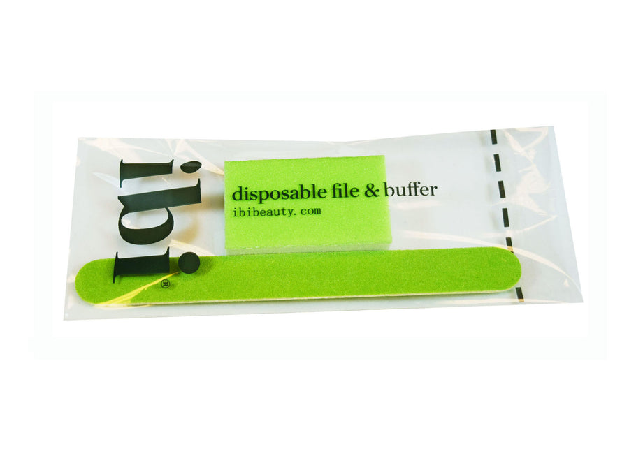 Disposable green small file & medium buffer set