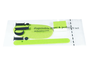 Disposable manicure & pedicure sets with foot file pads