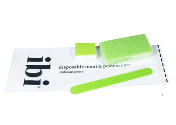 Disposable manicure & pedicure set with pumice sponge