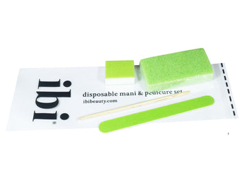 Disposable manicure & pedicure sets with pumice sponges & wood Stick