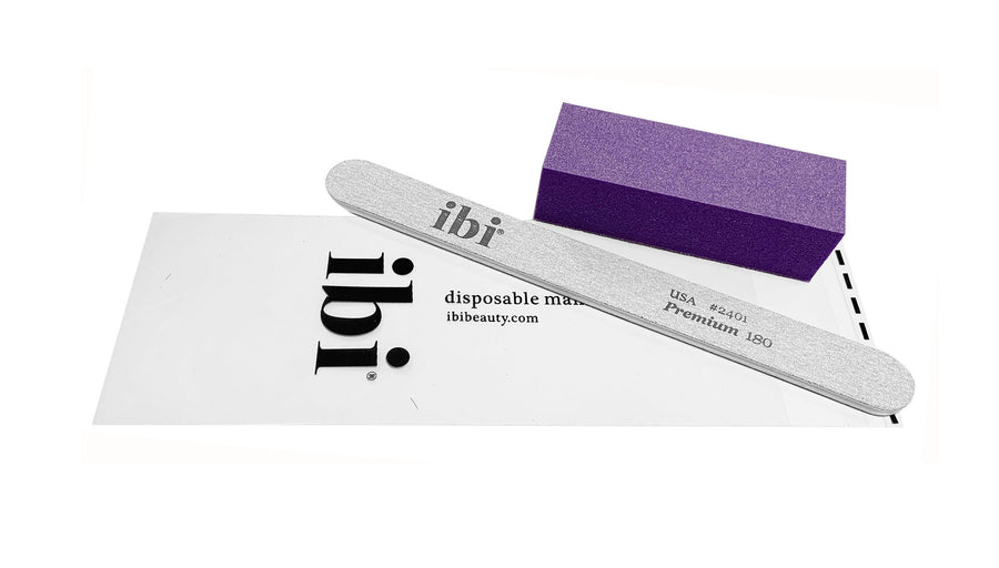 Disposable premium zebra cushion file & purple sanding block set