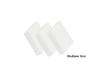 Disposable white medium slim buffer