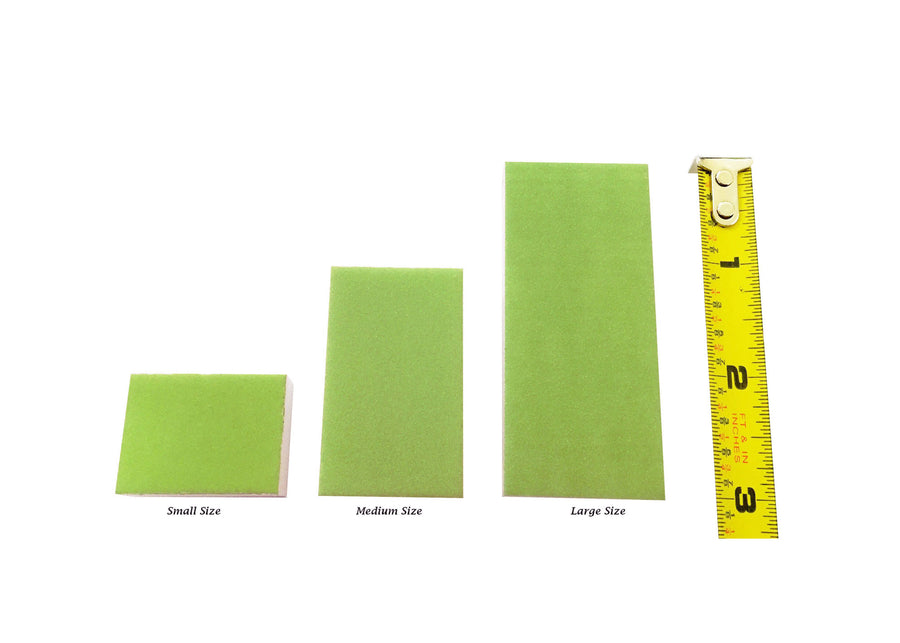 Disposable green large slim buffer