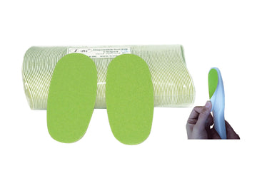 Disposable green foot file pad (Grit# 80)