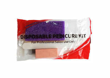 Disposable Pedicure Set(Nail File, Buffer, Wood Stick & Pumice)
