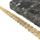 12MM PRONG CUBAN LINK BRACELET [WHITE | YELLOW] GOLD - ICED DRIP JEWELRY
