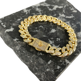 12MM MIAMI CUBAN LINK BRACELET [WHITE | YELLOW] GOLD - ICED DRIP JEWELRY