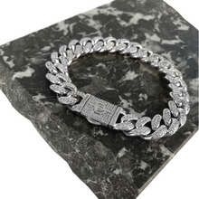 ICED OUT 12MM MIAMI CUBAN LINK BRACELET WHITE GOLD - ICED DRIP JEWELRY - jetzt kaufen!