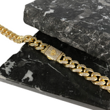 12MM MIAMI CUBAN LINK CHAIN [WHITE | YELLOW] GOLD - ICED DRIP JEWELRY