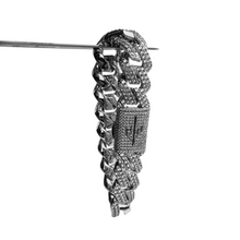 ICED OUT 20MM PRONG CUBAN LINK BRACELET WHITE GOLD - ICED DRIP JEWELRY - jetzt kaufen!